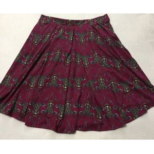 Lularoe Deer Reindeer Madison Midi Skirt 3xl